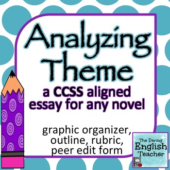 Analyzing Theme: a common core essay for ANY novel (rubric included)