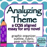 Analyzing Theme: a common core essay for ANY novel (rubric