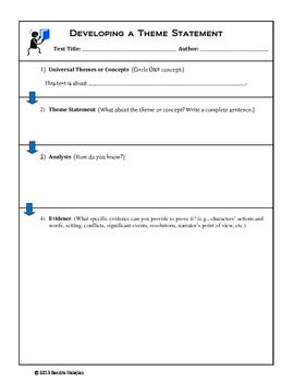 Theme Analysis. Strategies and Activities (w/ CCSS)