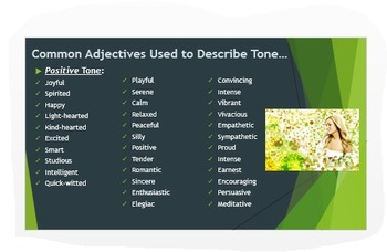Analyzing Tone & Mood in Literature: Common Core PPT w/Analytic Activity!