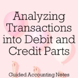 Analyzing Transactions into Debit and Credit Parts Guided