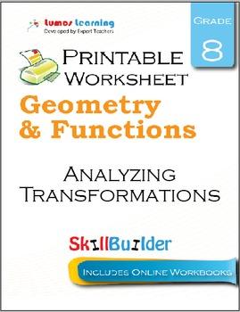 Analyzing Transformations Printable Worksheet, Grade 8