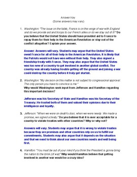 "Analyzing & Understanding the Early Republic Through Hamilton ""Cabinet Battle #2"