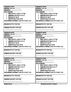 Analyzing Vocabulary