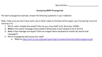 Analyzing WWII Propaganda