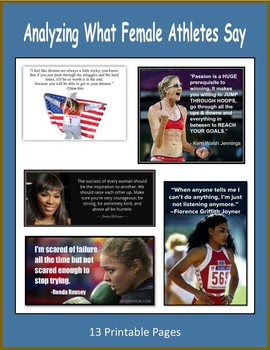 Analyzing What Female Athletes Say (Women's History Month)