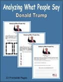 Analyzing What People Say (Donald Trump)