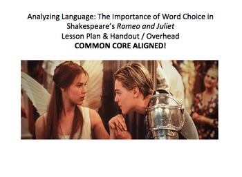 Analyzing Word Choice & Nuances in Language in Shakespeare's Romeo and Juliet