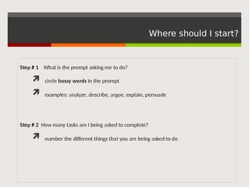Analyzing Writing Prompts PPT