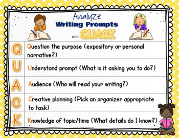 Strategies to Analyze a Writing Prompt - QUACK