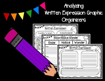 Analyzing Written Expression Graphic Organizers