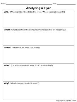 Analyzing a Flyer