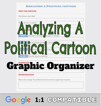 Analyzing a Political Cartoon Worksheet/Organizer | Google Ready Resource