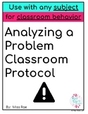 Analyzing a Problem Classroom Protocol FREEBIE