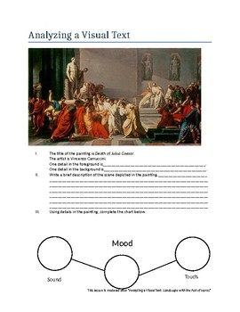 Analyzing a Visual Text - The Death of Julius Caesar