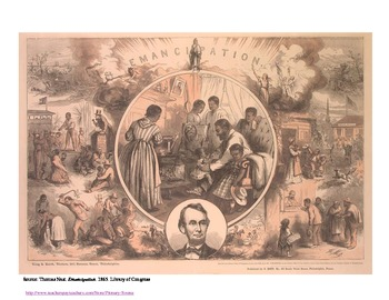 Analyzing a primary source to define emancipation: Thomas Nast cartoon