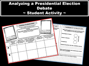 Analyzing a Presidential Election ~3 Page Graphic Organize