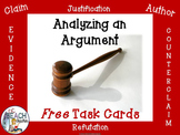 Analyzing an Argument:  Free Task Cards
