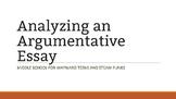 Analyzing an Argumentative Essay