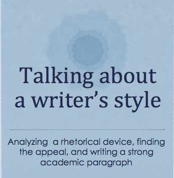 Analyzing an Article