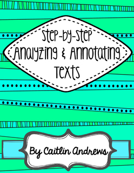 Analyzing and Annotating Texts