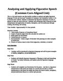 Analyzing and Applying Figurative Speech (Common Core-Alig