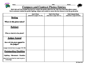 Analyzing and Comparing and Contrasting Photo Entries (Sho