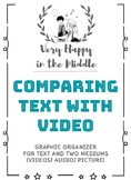 Comparing Text with Videos Graphic Organizer