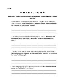 "Analyzing the American Revolution Through Hamilton's ""Right Hand Man"""