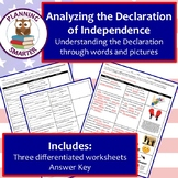 Analyzing the Declaration of Independence - 3 unique diffe
