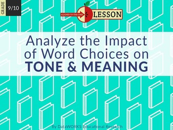 Analyzing the Impact of Word Choices on Tone and Meaning