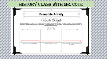 Analyzing the Preamble Activity