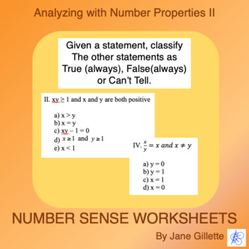 Analyzing with Number Properties II