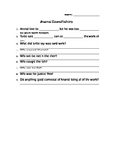 Anansi Goes Fishing Comprehension Sheet