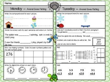Anansi Goes Fishing Homework - Scott Foresman 2nd Grade