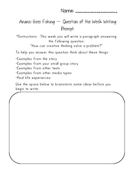 Anansi Goes Fishing - Reading Street 2.3.3