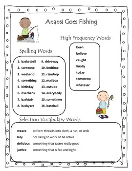 Anansi Goes Fishing Reading Street Grade 2 Common Core 2013