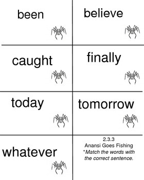 Anansi Goes Fishing, Reading Street, High Frequency Words
