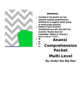 Anansi Leveled Comprehension Packet