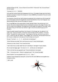 Anansi and the Yam Hills (African Fable)