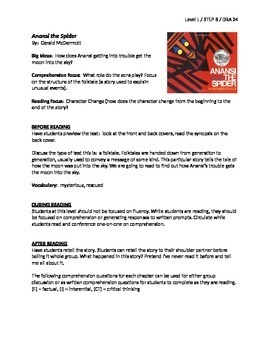 Anansi the Spider Guided Reading Lesson Plan - Level L