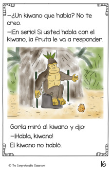 Anansi y el kiwano que habla Spanish storybook