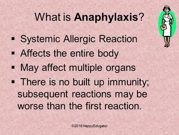 Allergies PowerPoint - Anaphylaxis Severe Allergic Reaction