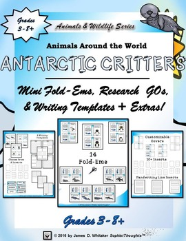 Antarctic Critters Mini Research Fold-Ems and Interactive Activities