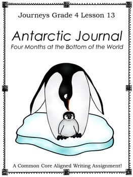 Antarctic Journal--Writing Prompt-Journeys Grade 4--Lesson 13
