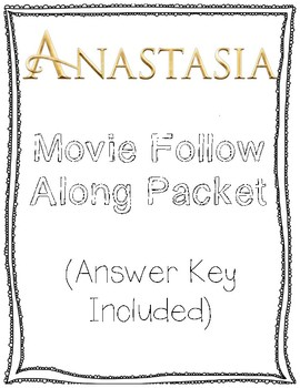 Anastasia Follow Along Movie Packet