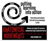 Anatomical Body Movement Terminology Worksheet