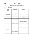 Anatomical Directional Terms Graphic Organizer