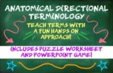 Anatomical Movement Terminology Puzzle and PowerPoint Game!