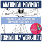 Anatomical Terms Worksheet and Crossword Puzzle!